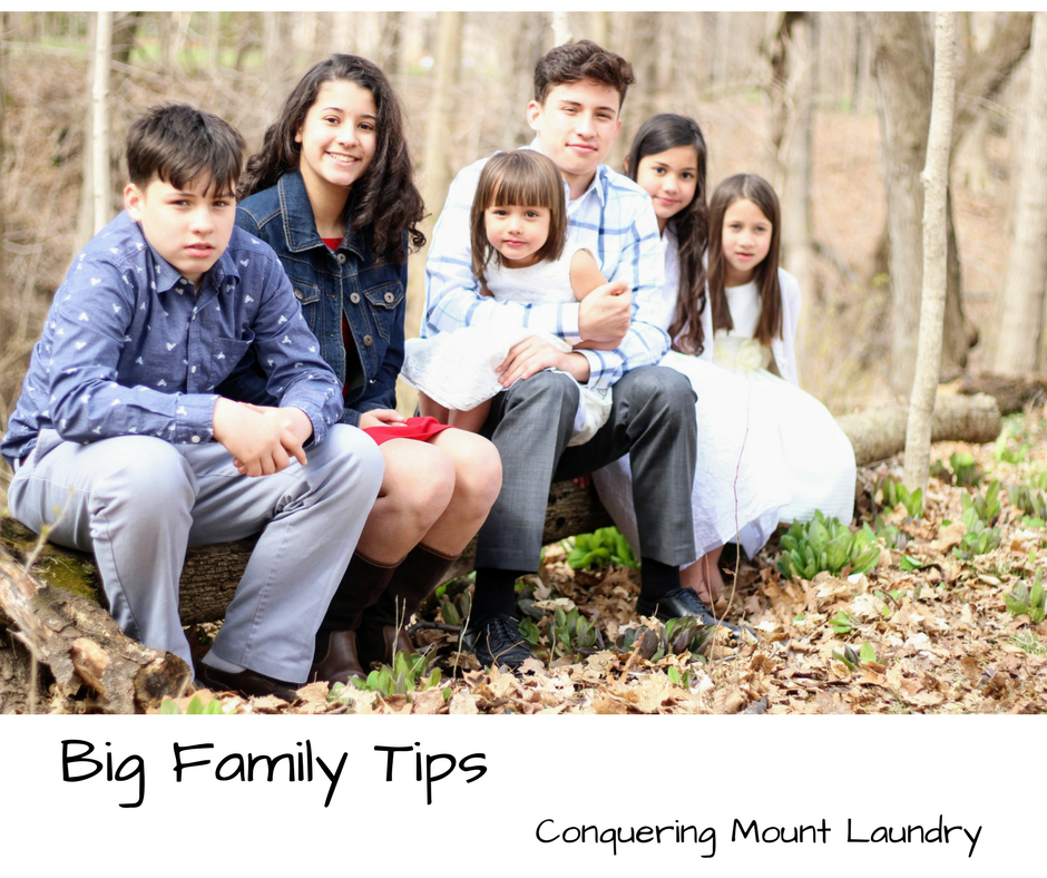 Big Family Tips – Conquering Mount Laundry