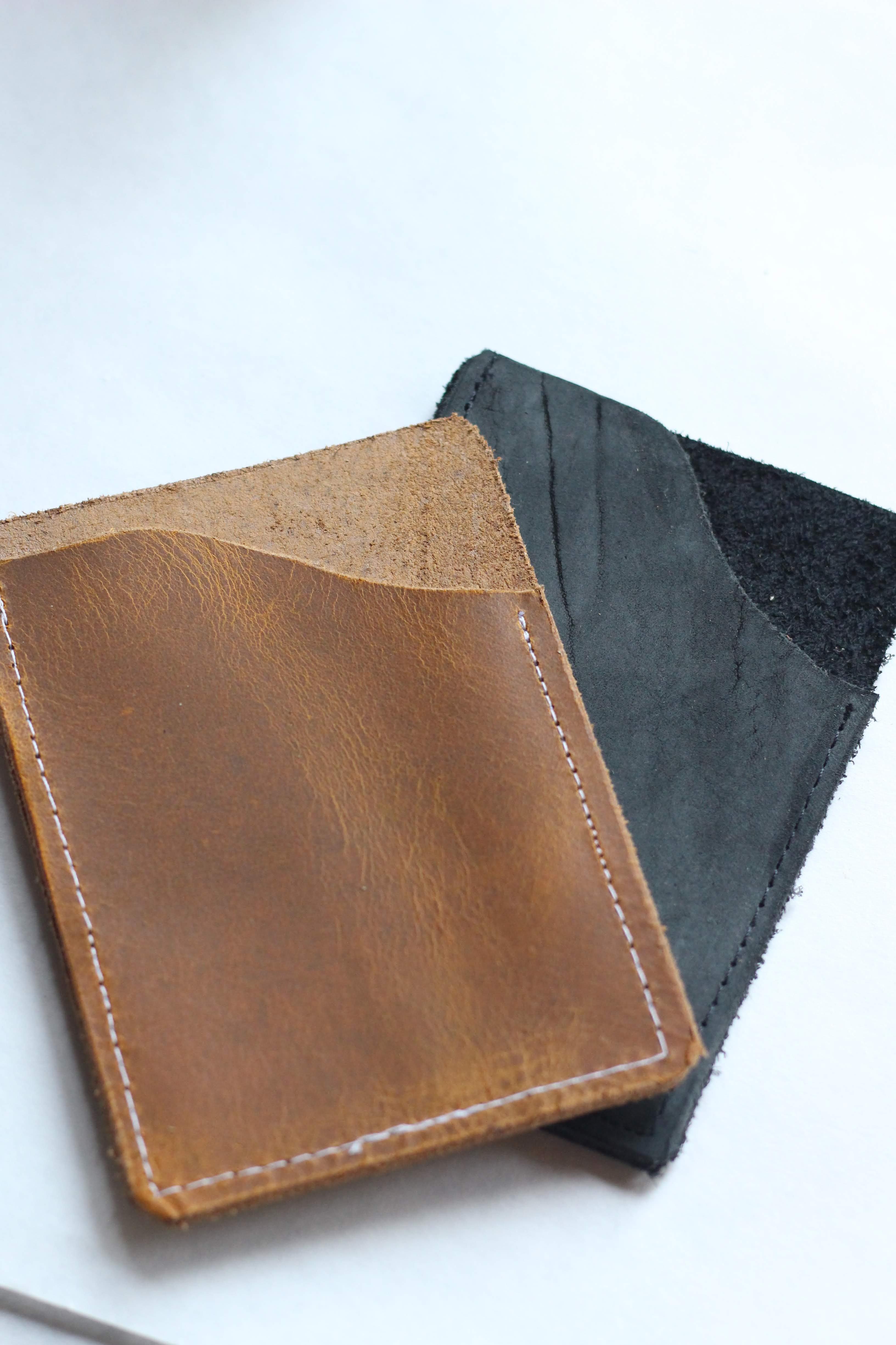 Black Minimalist Leather Wallet